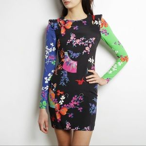 VERSACE for H&M Stampa Floral Pattern Silk Dress